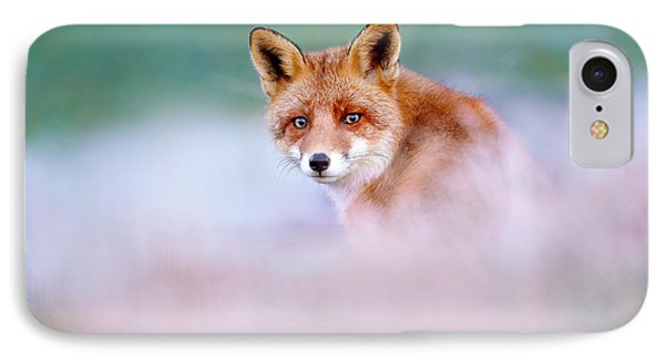 Red Fox In A Mysterious World IPhone 7 Case by Roeselien Raimond
