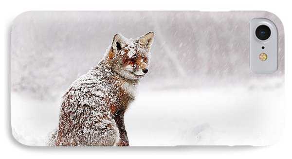 Red Fox In A White Winter Wonderland IPhone Case by Roeselien Raimond