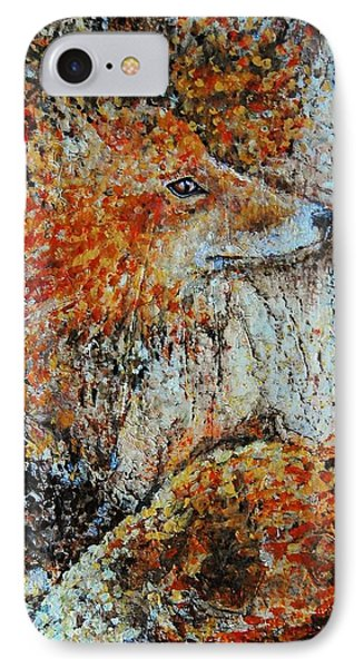 Red Fox IPhone Case by Jean Cormier