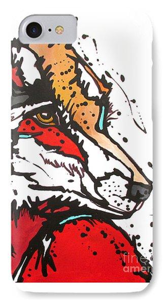 Red Fox IPhone Case by Nicole Gaitan