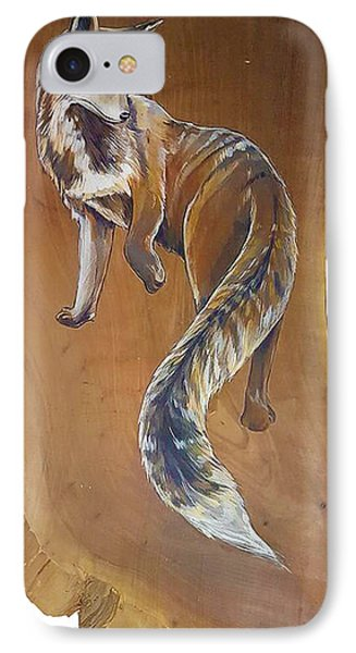 Red Fox On Cherry Slab IPhone Case