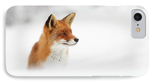 Red Fox Out Of The Blue IPhone Case by Roeselien Raimond
