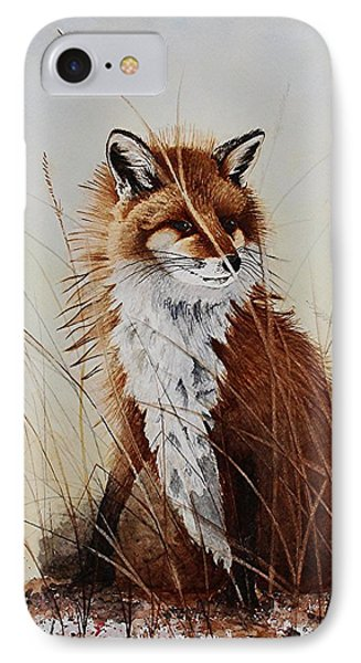 Red Fox Waiting On Breakfast IPhone Case by Jimmy Smith