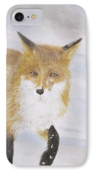 Red Fox Walk IPhone Case by Annie Poitras