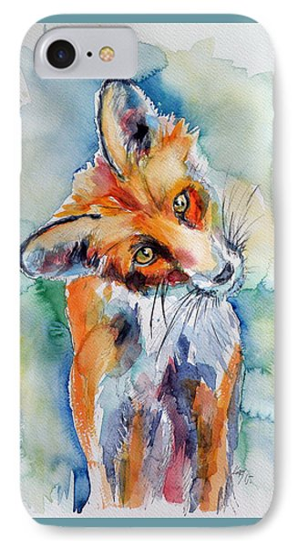 Red Fox Watching IPhone Case by Kovacs Anna Brigitta