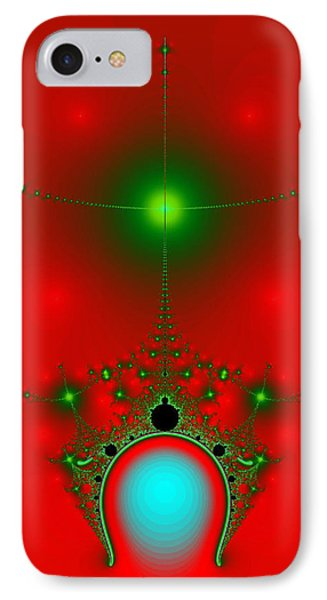 IPhone Case featuring the digital art Red Fractal by Charmaine Zoe