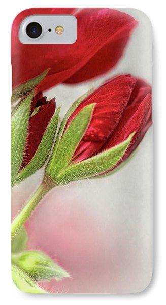 Red Geranium Flowers IPhone Case by Jennie Marie Schell