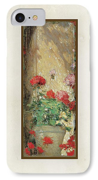 Red Geranium Pots IPhone Case by Audrey Jeanne Roberts