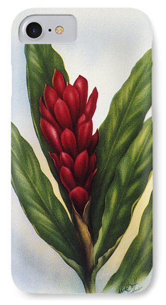 Red Ginger Phone Case by Hawaiian Legacy Archive - Printscapes