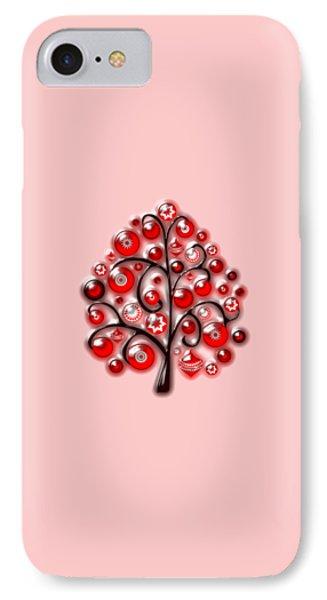 Red Glass Ornaments IPhone Case by Anastasiya Malakhova