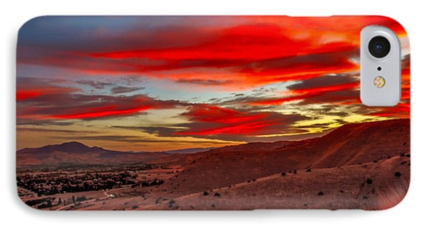 Red Glow Over Emmett IPhone Case by Robert Bales