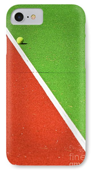 Red Green White Line And Tennis Ball IPhone 7 Case