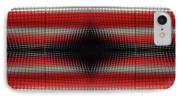 Red Grid Abstract IPhone Case