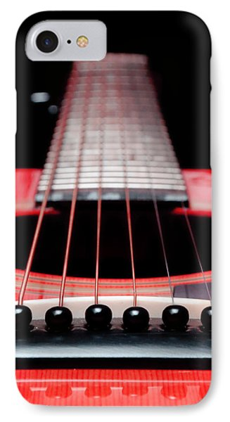 Red Guitar 16 Phone Case by Andee Design