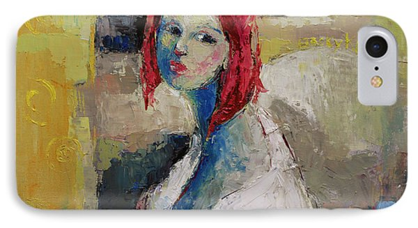 Red Haired Girl IPhone Case by Becky Kim