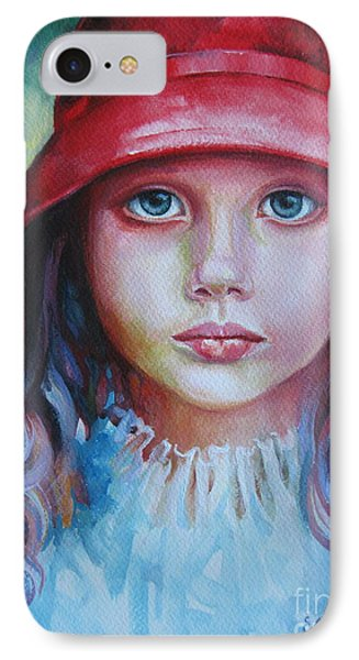 IPhone Case featuring the painting Red Hat by Elena Oleniuc