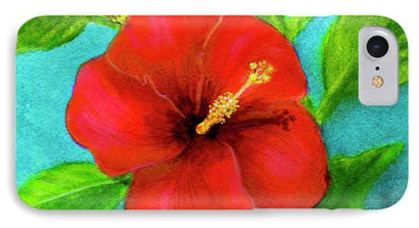 Red Hawaii Hibiscus #238  Phone Case by Donald k Hall