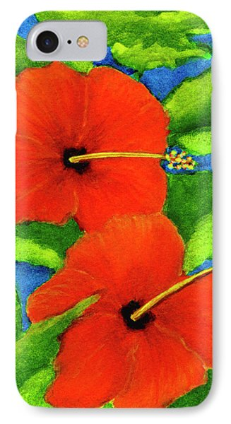 Red Hawaii Hibiscus Flower #267 Phone Case by Donald k Hall