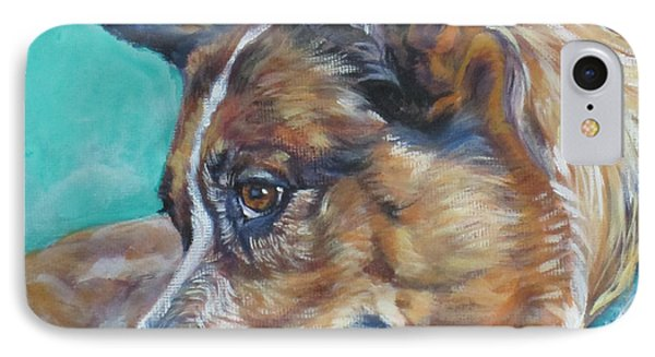 Red Heeler Australian Cattle Dog IPhone Case by Lee Ann Shepard