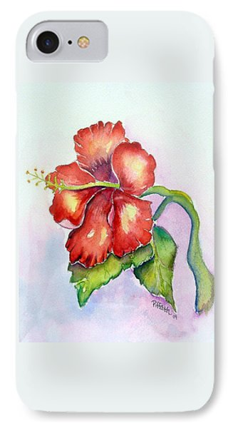 Red Hibiscus IPhone Case by Patricia Piffath