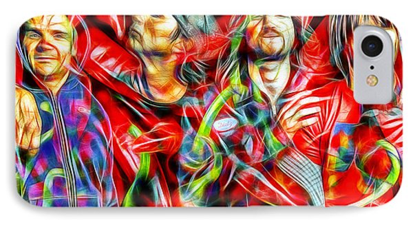 Red Hot Chili Peppers In Color II  IPhone Case by Daniel Janda