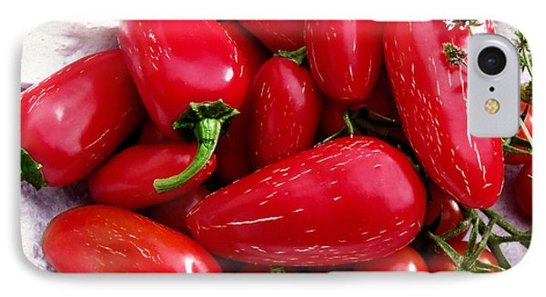 IPhone Case featuring the photograph Red Hot Jalapeno Peppers by Shawna Rowe