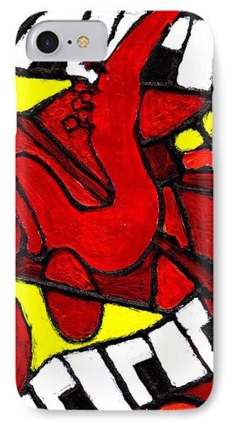 Red Hot Jazz IPhone Case by Wayne Potrafka