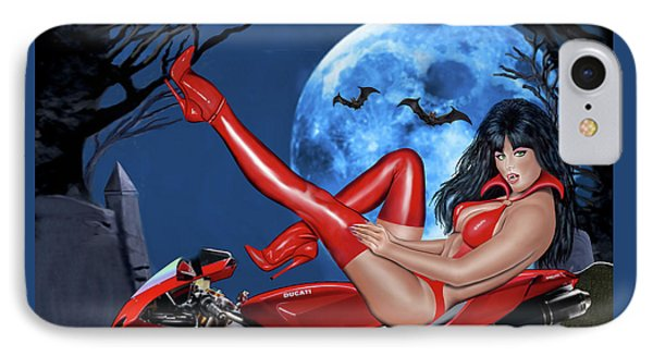 Red Hot Rider IPhone Case by Glenn Holbrook