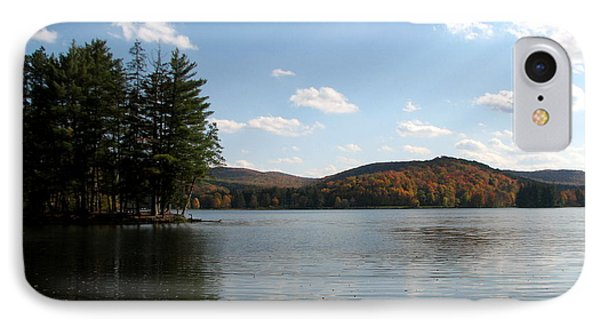 Red House Lake Allegany State Park Ny IPhone Case by Rose Santuci-Sofranko