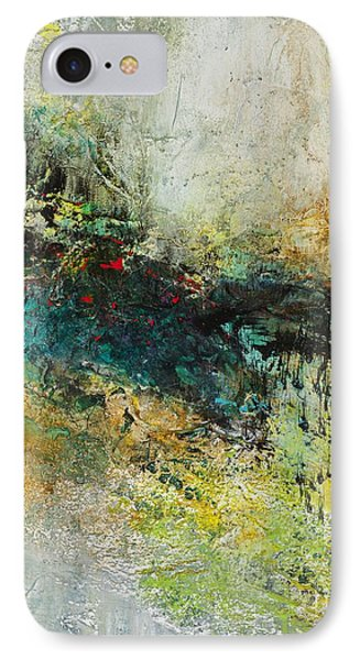 IPhone Case featuring the painting Red In The Landscape by Frances Marino