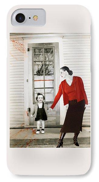 Red Jane - Self Portrait IPhone Case by Jaeda DeWalt