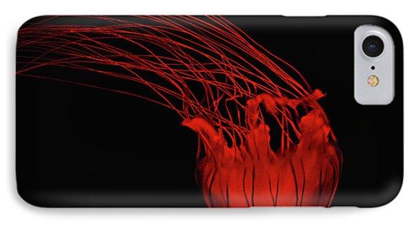 Red Jellyfish Phone Case by Denise Keegan Frawley