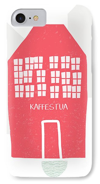 Red Kaffestua- Art By Linda Woods IPhone Case