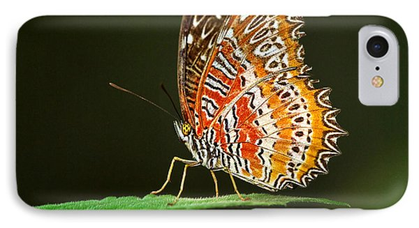 Red Lacewing Butterfly Phone Case by Louise Heusinkveld