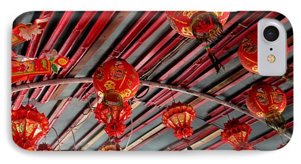 IPhone Case featuring the photograph Red Lanterns 1 by Randall Weidner
