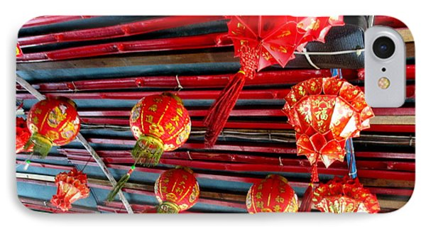 IPhone Case featuring the photograph Red Lanterns 3 by Randall Weidner