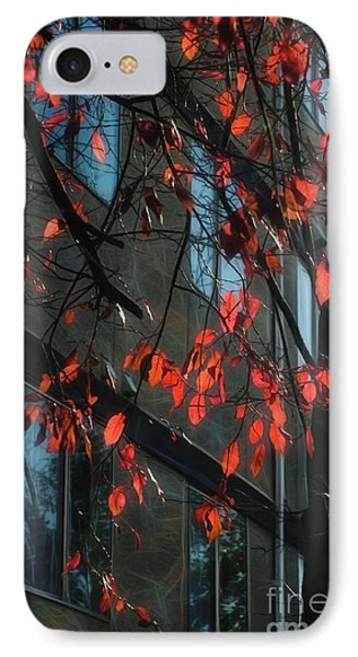 IPhone Case featuring the photograph Red Leaves by Yulia Kazansky