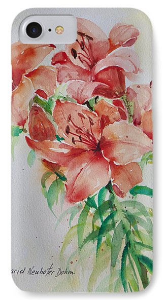 Red Lilies IPhone Case by Alexandra Maria Ethlyn Cheshire
