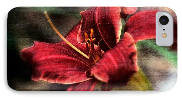 IPhone Case featuring the photograph Red Lilly by Michaela Preston