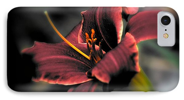 IPhone Case featuring the photograph Red Lilly2 by Michaela Preston