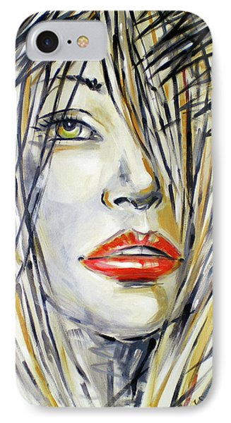 Red Lipstick 081208 IPhone Case by Selena Boron