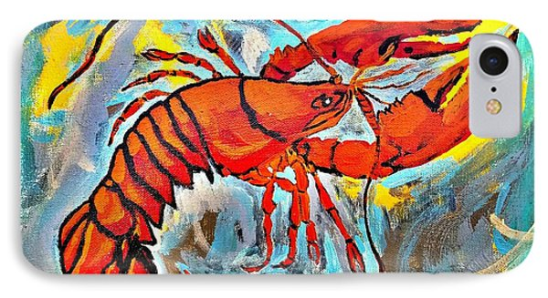 Red Lobster Abstract  IPhone Case by Scott D Van Osdol