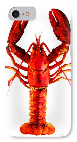 Red Lobster - Full Body Seafood Art Phone Case by Sharon Cummings