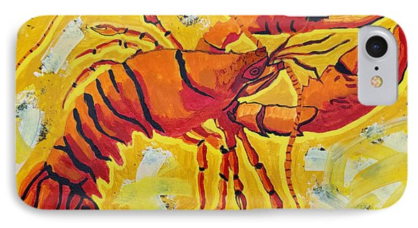 Red Lobster Yellow Abstract IPhone Case