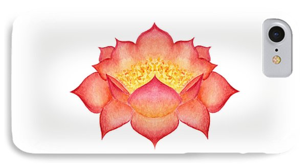 IPhone Case featuring the painting Red Lotus by Elizabeth Lock