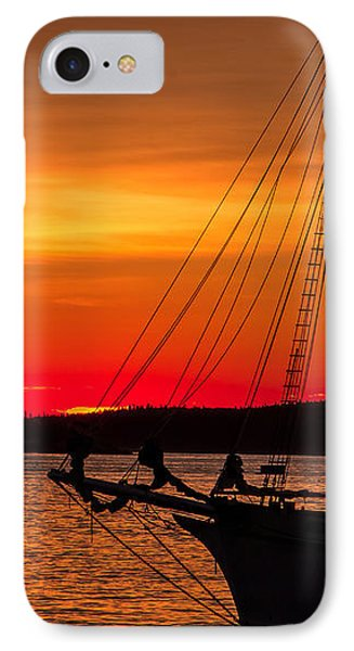 Red Maine Sunrise IPhone Case by Steven Bateson