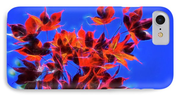 IPhone 7 Case featuring the photograph Red Maple Leaves by Yulia Kazansky