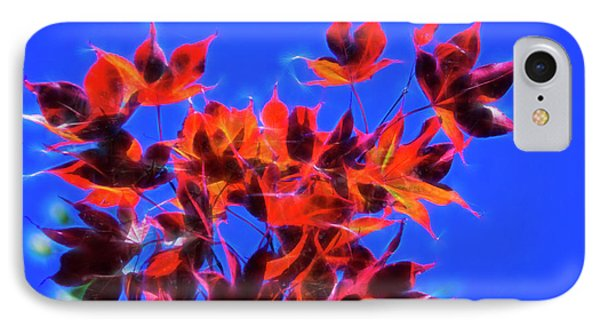 IPhone Case featuring the photograph Red Maple Leaves by Yulia Kazansky