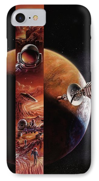 Red Mars Cover Painting IPhone Case by Don Dixon