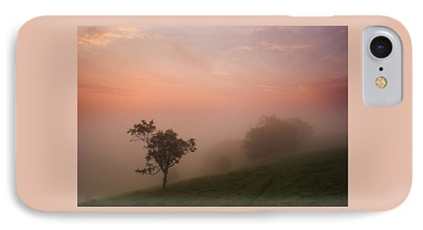 Red Mist On The South Downs IPhone Case by Hazy Apple